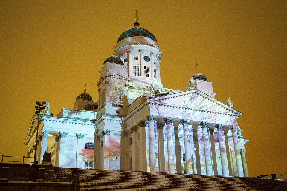 Light Show at Helsinki Cathedral