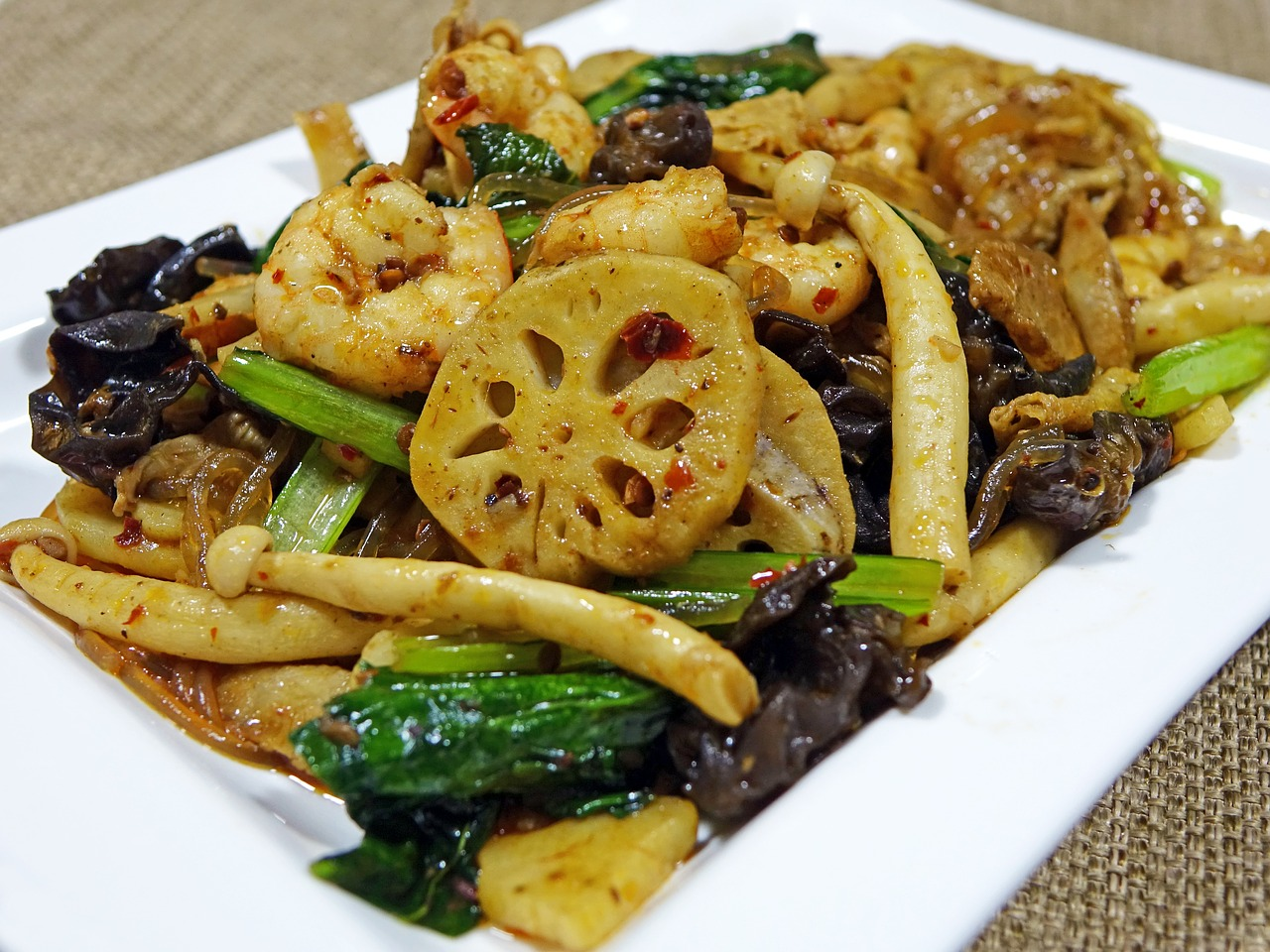 Mushroom with vegetables